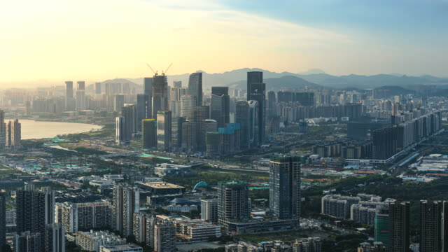 construction and development of qianhai free trade zone in shenzhen,china - viewpoint stock videos & royalty-free footage