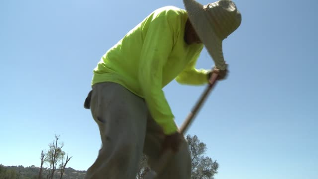 Construction and landscaping by Latino immigrants on a golf course