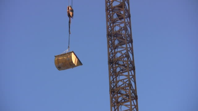 Construction Crane loaded up lifting hook
