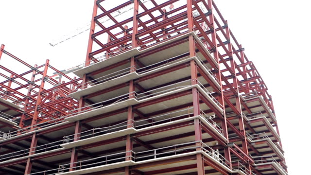 construction framing of a new building - girder stock videos & royalty-free footage
