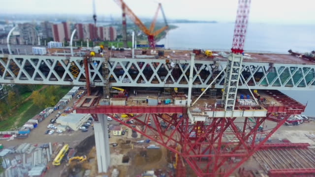 construction in progress of a mass rapid transit line - bridge built structure stock videos & royalty-free footage