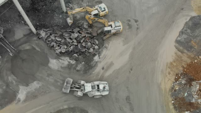 construction machinery working in a quarry - hydraulics stock videos and b-roll footage