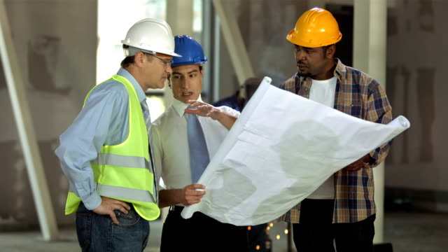 hd: construction manager giving instructions - foreman stock videos and b-roll footage