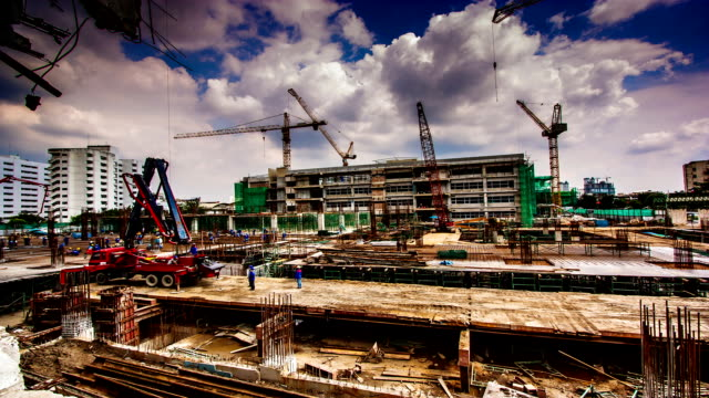construction modern office building - time lapse - construction site stock videos and b-roll footage