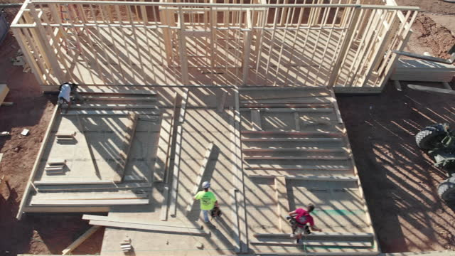 construction of a residential home - incomplete stock videos & royalty-free footage