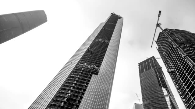 t/l ws la construction of east tower/ guangzhou, china - china east asia stock videos & royalty-free footage