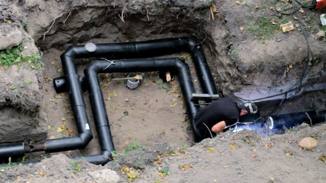 construction of the pipeline. - pipe tube stock videos & royalty-free footage