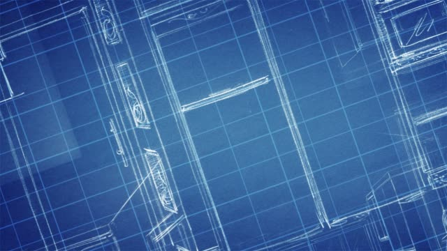 construction plans & blueprints - blueprint stock videos & royalty-free footage