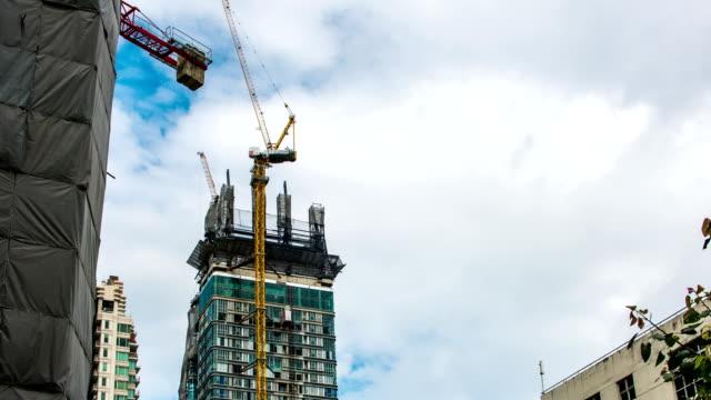 Construction site activity, Time lapse video