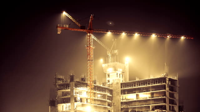 construction site at night - construction site stock videos and b-roll footage