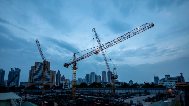 construction site : day to night time-lapse - scaffolding stock videos and b-roll footage