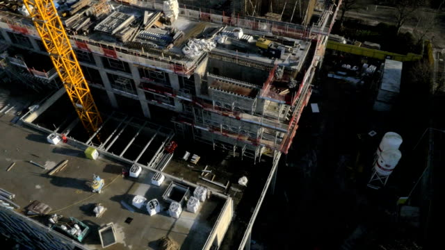 construction site - drone shot #3 - construction site stock videos and b-roll footage