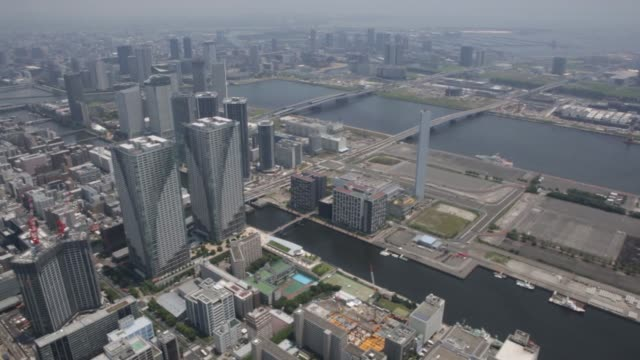 A construction site for the New Toyosu Fish Market is seen in this aerial shot taken in Tokyo Japan on Wednesday June 24 Commercial and residential...