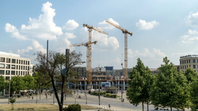 construction site in at dresden in summer - dresden germany stock videos & royalty-free footage