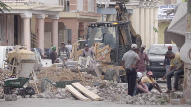 construction site in haitian street after 2010 earthquake no - rebuilding stock videos and b-roll footage