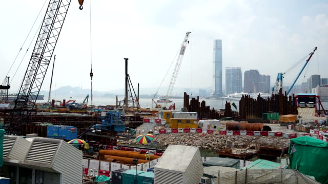 construction site in hong kong - wan chai stock videos & royalty-free footage