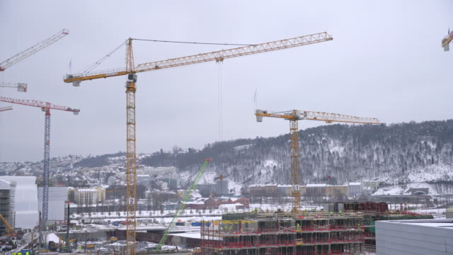 ws construction site in oslo - construction site stock videos & royalty-free footage