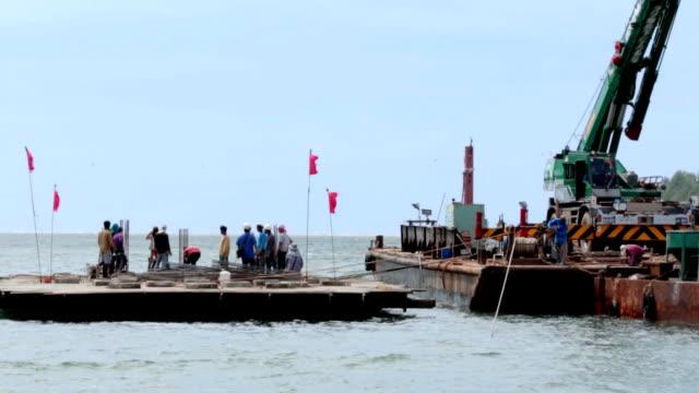 Baustelle auf das Meer.