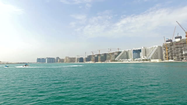 construction site in the palm jumeirah (dubai) - pjphoto69 stock videos & royalty-free footage