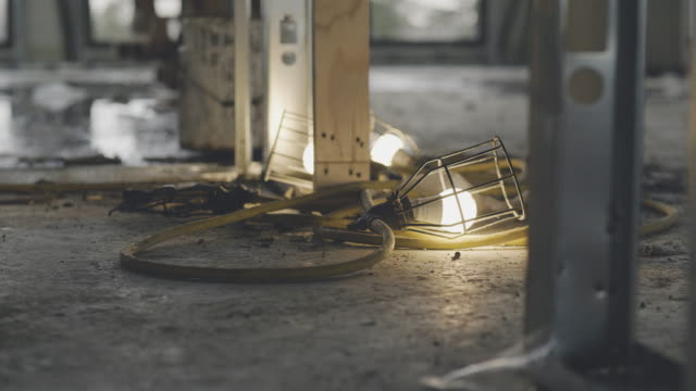 construction site lamps in close-up - renovation stock videos & royalty-free footage