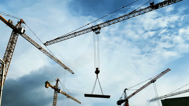 construction site on a sunny day. - scaffolding stock videos & royalty-free footage