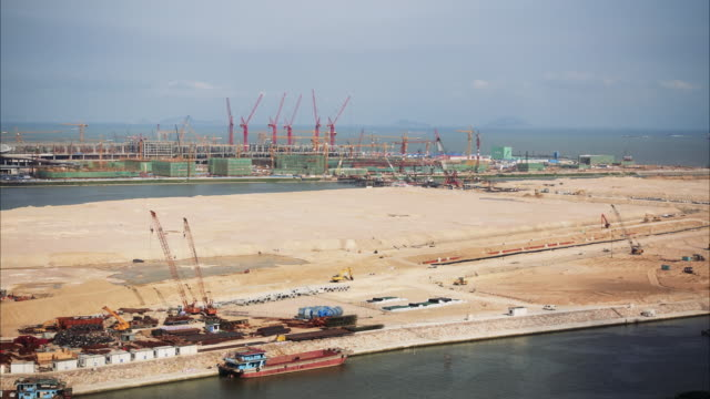 Construction Site on Man Made Islands Time Lapse