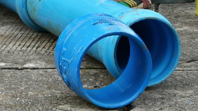 byggarbetsplats, reparera stora underjordiska vattenledning