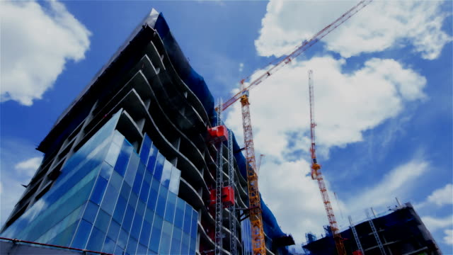 construction site time lapse - scaffolding stock videos & royalty-free footage