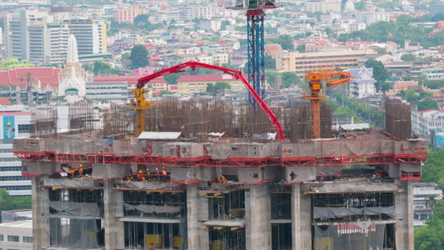 Chantier de construction Time-lapse