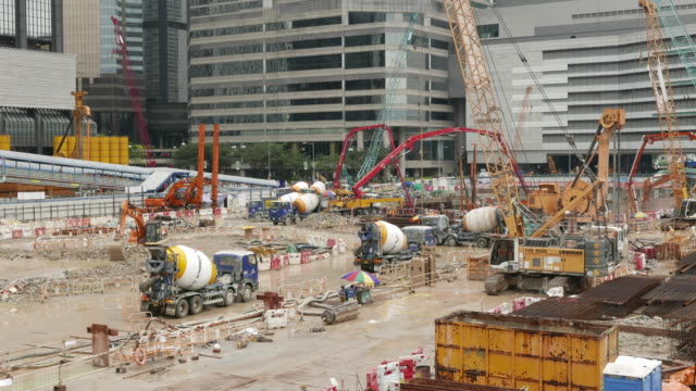 Construction Site tunnel in Hong Kong timelapse.