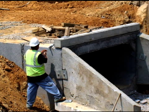 construction site - drainage stock videos & royalty-free footage