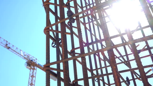 construction site - girder stock videos & royalty-free footage