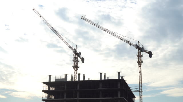 Construction Site with many Crane