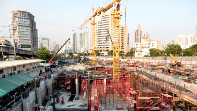 construction site workers - scaffolding stock videos and b-roll footage