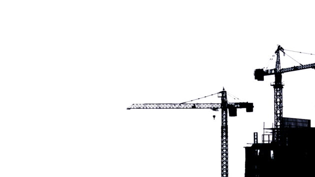 construction site working isolated on white background