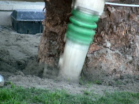 construction: soil, dirt pounder, compressor, compactor stops - human limb stock videos & royalty-free footage