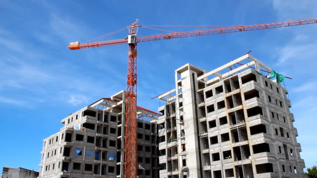 construction with blue sky - window frame stock videos and b-roll footage
