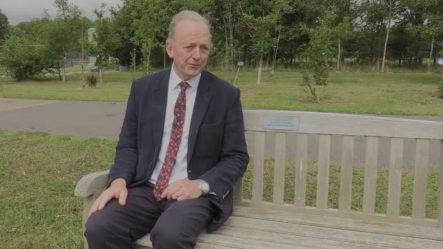 construction work has begun on the new uk police memorial to be built at the national memorial arboretum in staffordshire. the fathers of pcs fiona... - national memorial arboretum stock videos & royalty-free footage