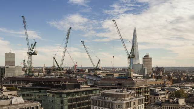 construction work in central london, uk. - crane stock videos and b-roll footage