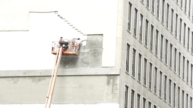 construction work in new york city - house painter stock videos and b-roll footage