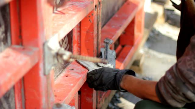 construction work - operatore edile video stock e b–roll