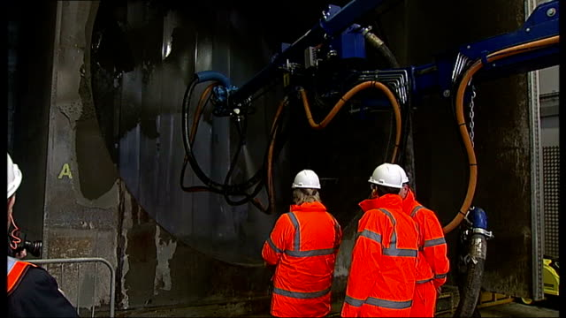 construction worker killed at crossrail site in holborn t11031335 / tx ilford crossrail tunneling academy int various shots of boris johnson in hard... - toughness stock videos and b-roll footage