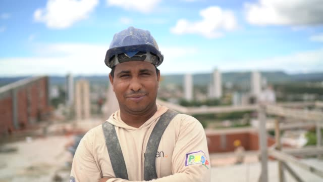 construction worker standing in a construction site - tocantins stock videos and b-roll footage