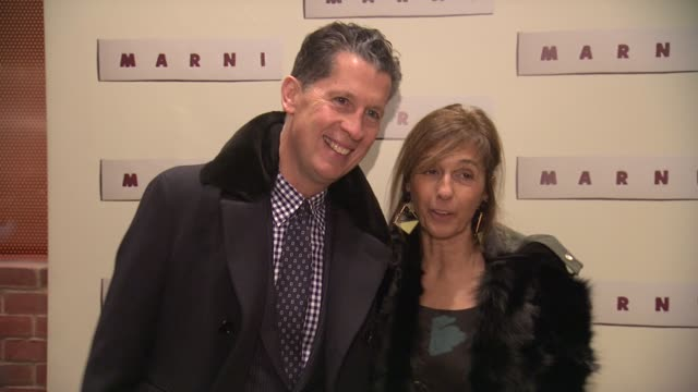 consuelo castiglioni and guest at marni fragrance launch at tbd on february 05 2013 in new york new york - marni stock videos & royalty-free footage