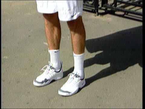 Nike ITN LIB ENGLAND Wimbledon Ext Tennis player Greg Rusedski posing in Nike sports wear