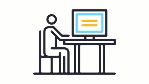 stockvideo's en b-roll-footage met consument bescherming lijn pictogram animatie met alpha - ingewikkeldheid