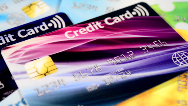 contactless credit cards - variation stock videos & royalty-free footage
