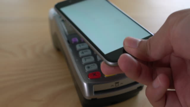 contactless payment 4k - point of sale stock videos and b-roll footage
