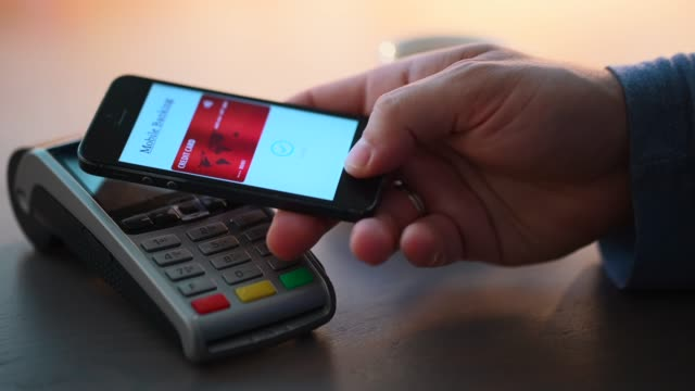 contactless payment in the coffee shop - credit card purchase stock videos & royalty-free footage