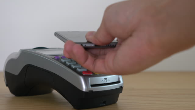 contactless payment - tap to pay stock videos & royalty-free footage